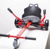 Hoverkart oxboard kart geschikt voor alle hoverboard, rood frame met zwart kuipstoeltje verstelbaar gratis verzending direct leverbaar buiten speelgoed - board - kar - kinder speelgoed - zeer stevig -