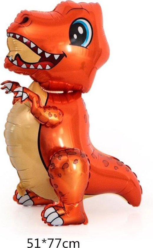 Folieballon van GROTE Dinosaurus (T-Rex) Oranje (31253)