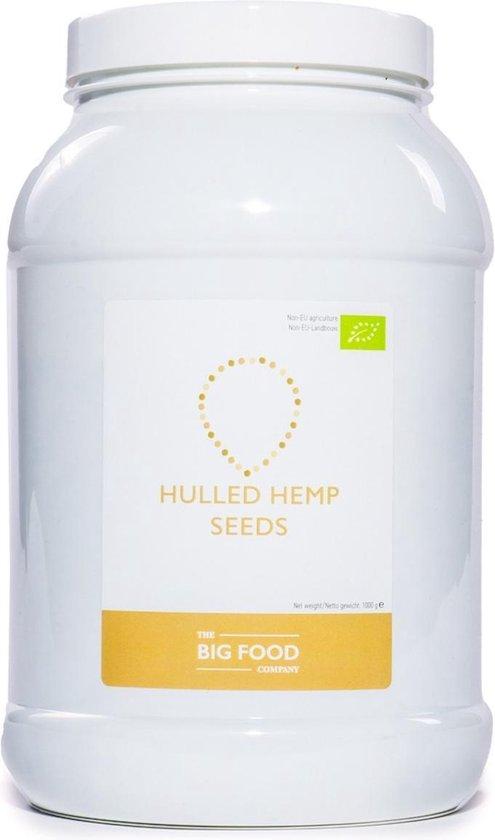 Big Food - Biologische Hennepzaad gepeld - 1KG - Small Bulk