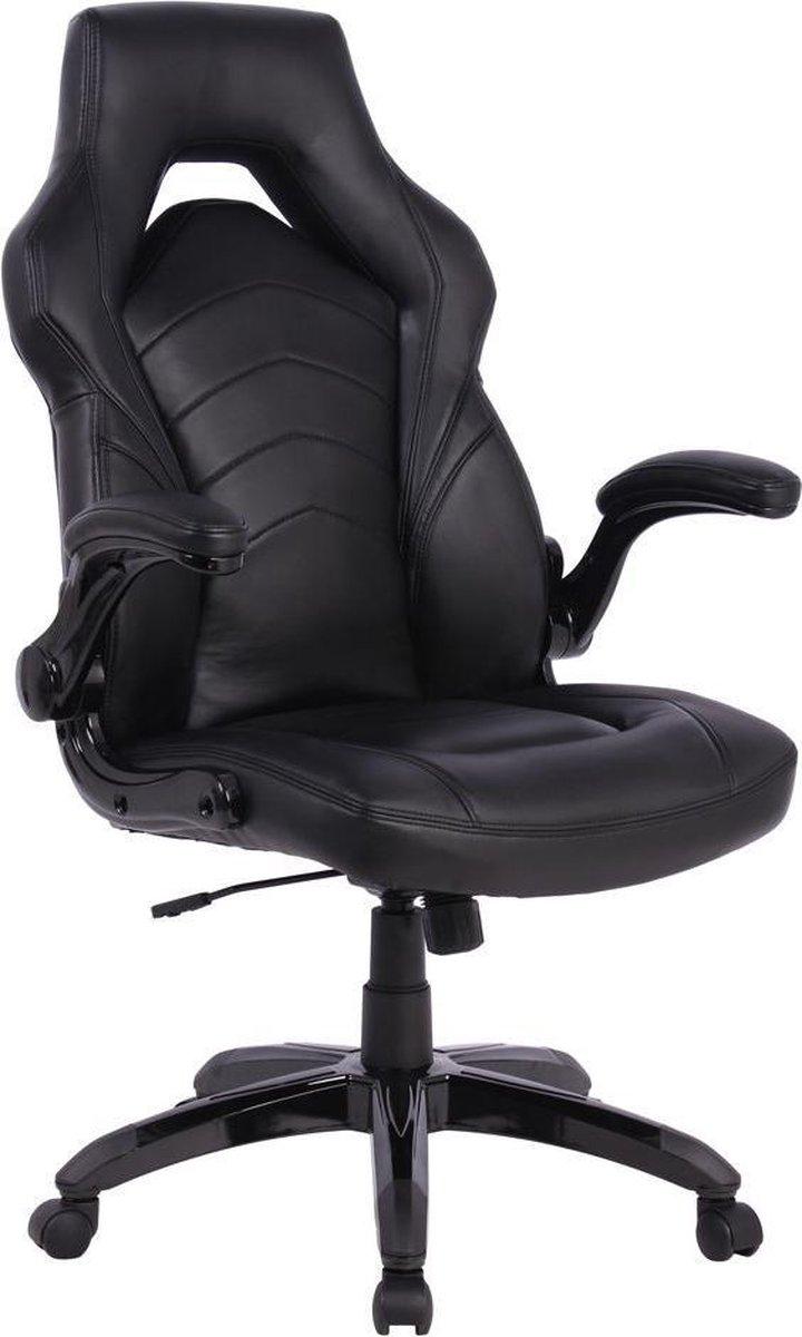 IVOL Gamestoel Prime Bureaustoel - Zwart - Met Inklapbare Armleuningen - Ergonomisch