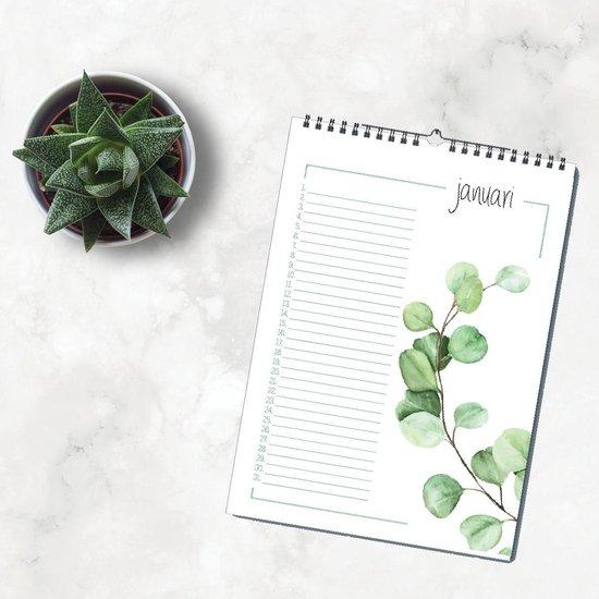 Afbeelding van Luxe verjaardagskalender botanisch - geen jaartal - wandkalender natuur - kalender DutchDesign