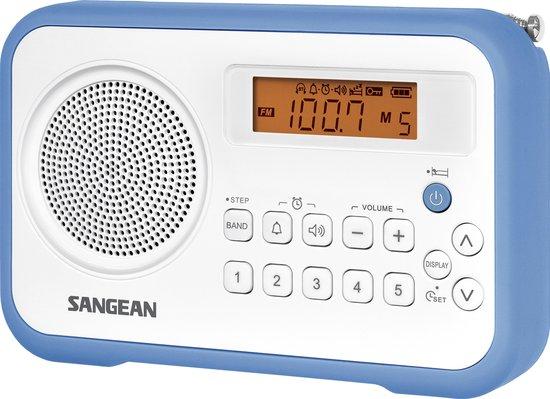Sangean PR-D18 - FM Radio - Draagbare Radio met AM en FM - Wit / Blauw