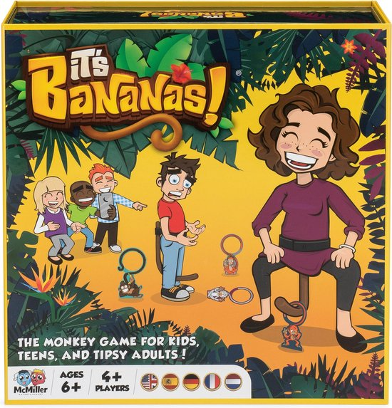 It's Bananas! the monkey game for kids, teens and tipsy adults! (met Nederlandse instructies)