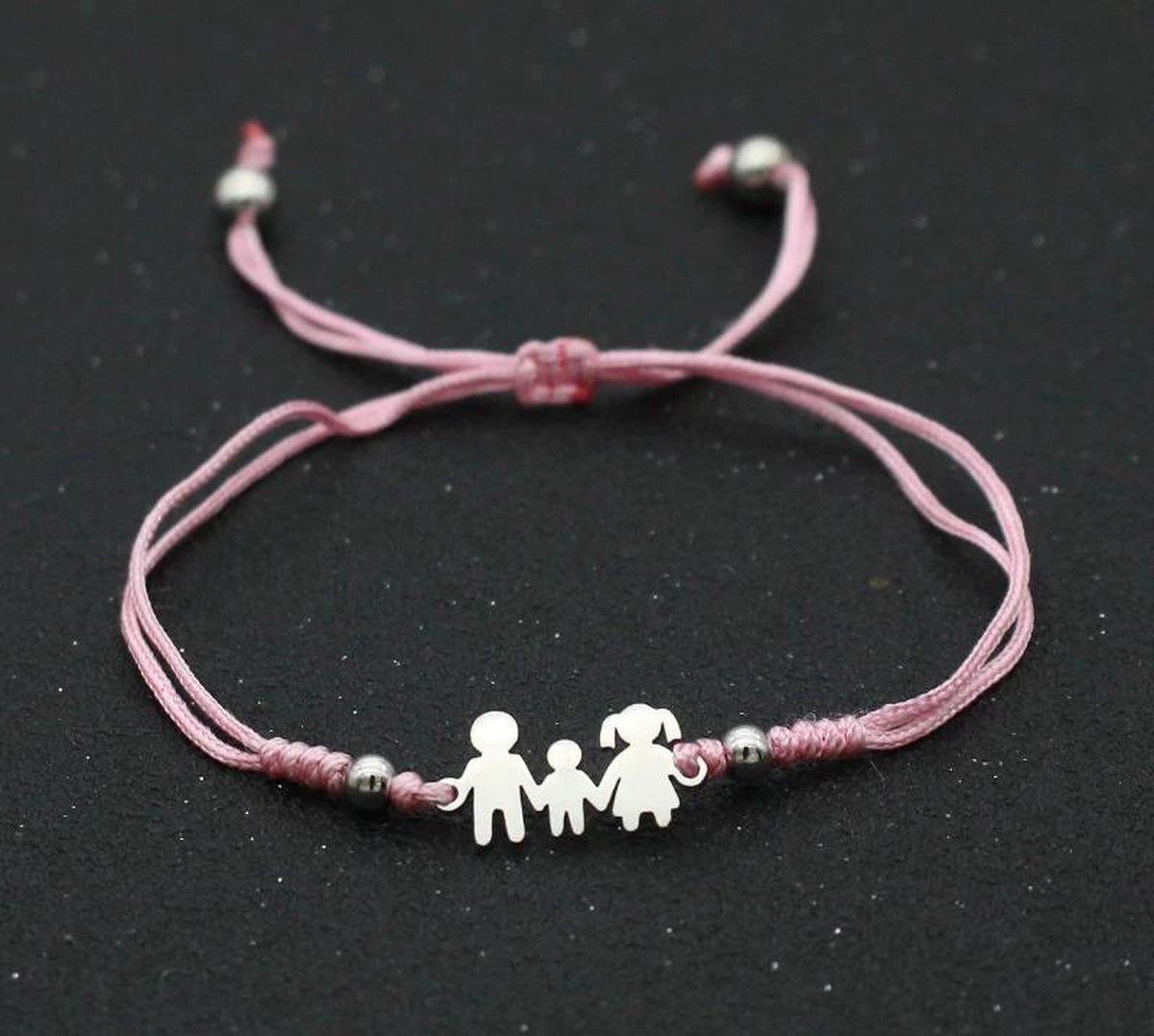 Armband - mama armband - roze  - dochter - moeder cadeau