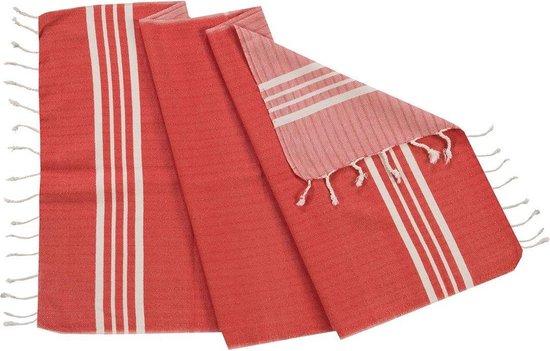 Gastendoek Krem Sultan Red - 30x50cm - Toilet Handdoek - Kleine Handdoek - Wc Handdoek - Gastenhanddoek