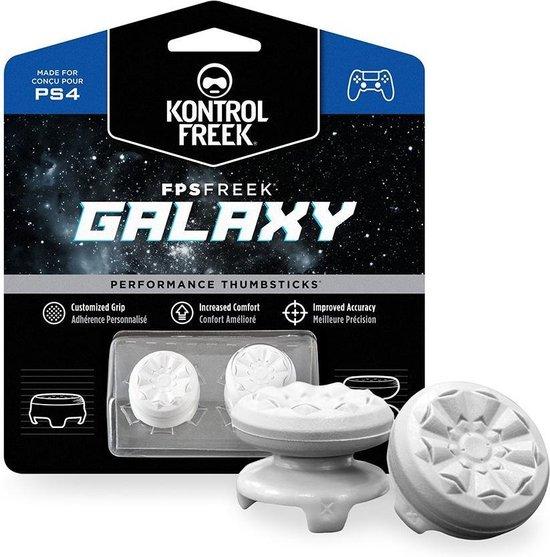 KontrolFreek FPS Freek Galaxy Wit voor PlayStation 4 (PS4) en PlayStation 5 (PS5) | Performance Thumbsticks | 1 High-Rise, 1 Mid-Rise | Paars