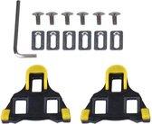Schoenplaatjes SPD-SL Geel met Speling Geschikt voor Shimano SPD SL pedalen