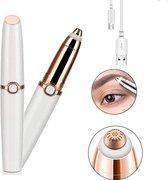 Cocora Wenkbrauw trimmer | Wenkbrauw Epilator | Precisietrimmer | USB oplaadbaar - Wit