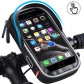Telefoonhouder Fiets Waterdicht - met Opbergvak - Universeel Telefoon Houder voor Mobiel Scooter en Motor