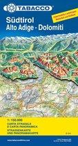 South Tirol / Alto Adige / Dolomites Road Map & Panoram. Map