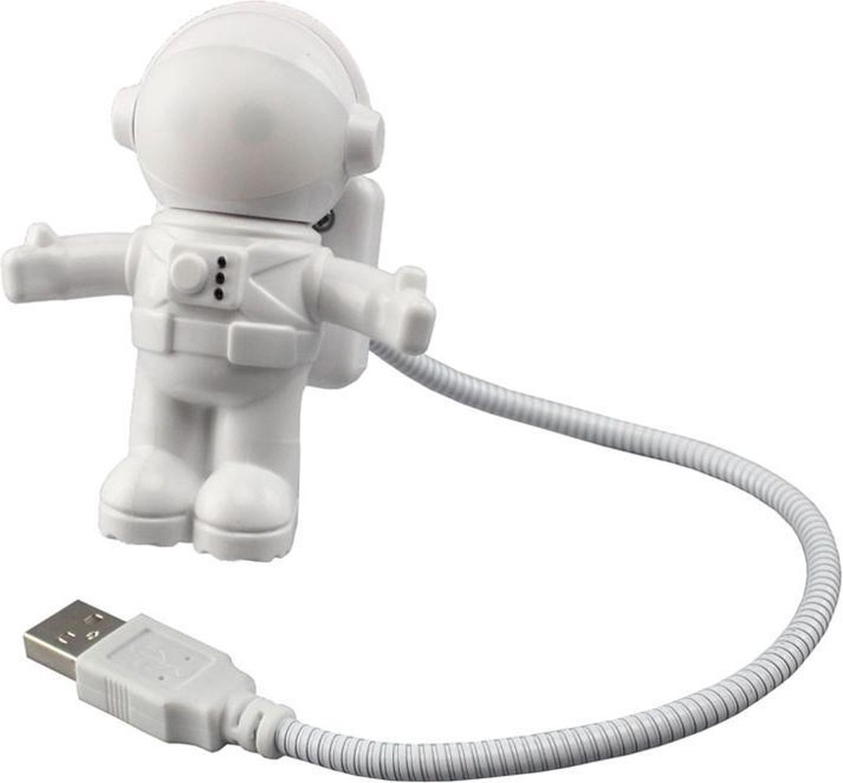 MaxiQualis® USB LED Nachtlampje Astronaut - Flexibel Verstelbaar Nachtlampje Mini-bureaulamp LED-leeslampje voor het lezen van PC/laptop Tablet