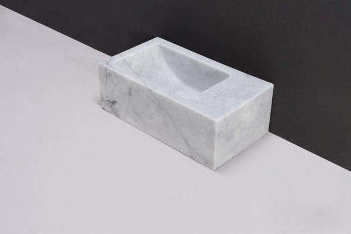 Forzalaqua Venetia Xs fontein 29x16x10cm RECHTHOEK Marmer wit