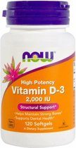 Vitamine D3, 2000 IE (120 Softgels) - Now Foods