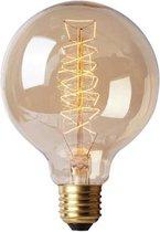 kooldraadlamp,edison vintage retro gloeilamp, filament antiek bulb, decoratie lamp-E27 grote fitting 40 watt- buis goud-squirrel cage