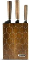 Bol.com-Edënbërg Prestige Line - Messenset met Luxe Houten Messenhouder - 6 delig-aanbieding
