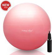 Fitness bal - Yoga bal - Gym bal - Pilates Bal - 65 cm - incl Pomp Roze