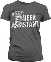 GAS MONKEY - T-Shirt Beer Assistant GIRL - Grey (XXL)