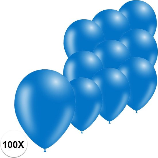 Blauwe Ballonnen Verjaardag Versiering  Blauwe Helium Ballonnen EK WK Koningsdag Feest Versiering Blauw 100 Stuks