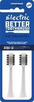 Opzetborstels Regular voor Electric Better Tootbrush - 2 stuks - wit