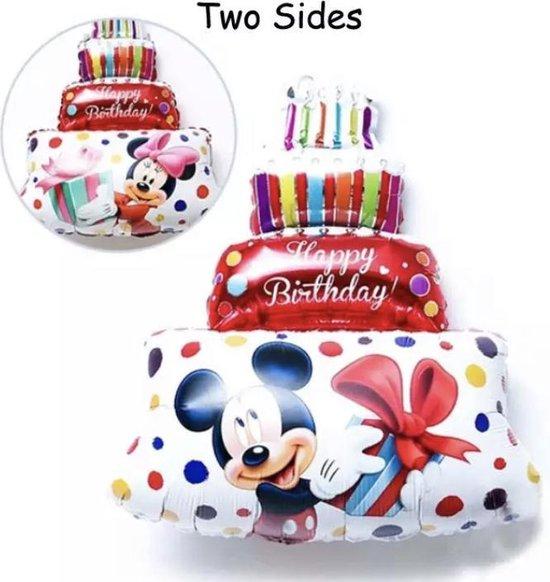 Mickey-Minnie-Dubbelzijdige-taart-79x58cm-GROOT-Rood-Ballon