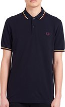 Fred Perry T-shirt - Mannen - donker blauw,paars