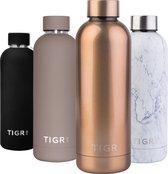 TIGR Thermosfles in Roestvrij Staal RVS - Drinkfles - 500ML - Rosé goud