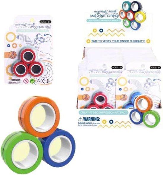 Afbeelding van Magnetische Ringen, Fidget Toy speelgoed