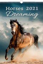 Helma C152-21 Kalpa Wandkalender 2021 Paarden dromen 31.5 x 45 cm