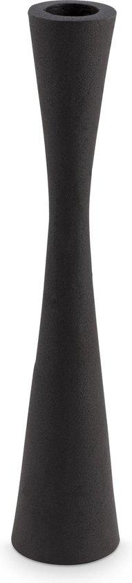 vtwonen kandelaar metaal zwart 25,5 cm.