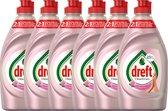 Dreft - Clean & Care Afwasmiddel Rose & Satin - 6 x 383 ml