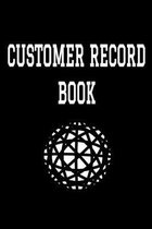 Customer Record Book: 6'' x 9'' Professional Client Profile Tracking Address & Appointment Book with A to Z Alphabetic Tabs to Record Personal