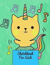 Sketchbook For Girls: Sketch Book Gift for Adults, Kids, Girls and Boys