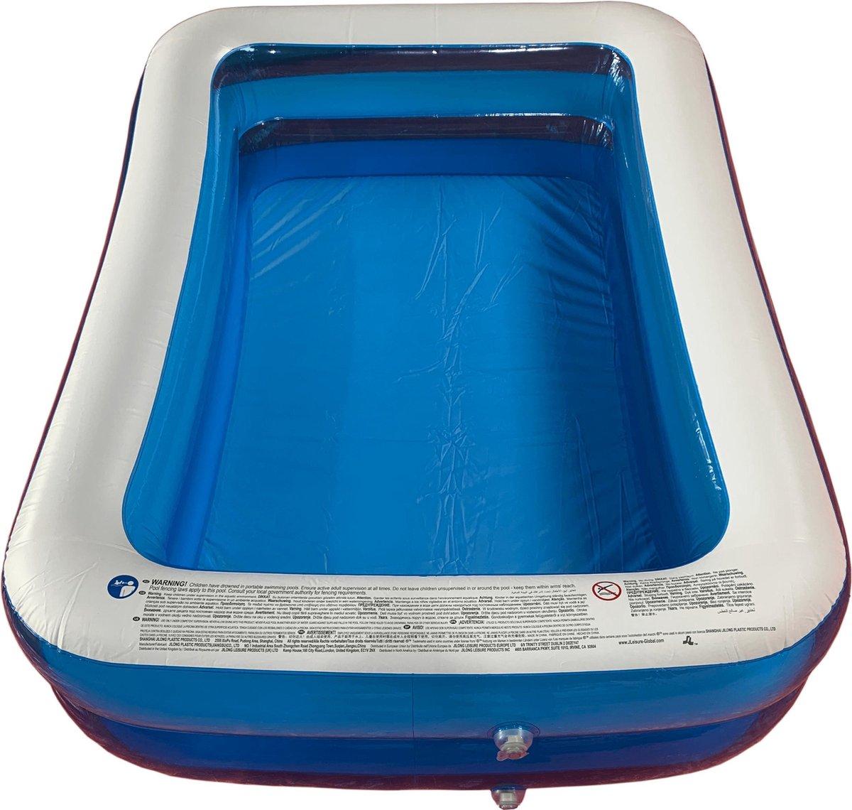 Opblaasbaar Zwembad Rechthoekig Blauw - 200x150x50
