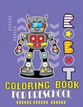 Robot coloring book Preschool