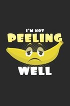 I'm not peeling well: 6x9 Banana - dotgrid - dot grid paper - notebook - notes