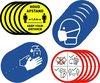 Corona sticker set - 4 x 5 stuks - Keep your distance - Houd afstand - Handen wassen - Mondkapje Verplicht - Regels - RIVM - COVID-19 - 14cm