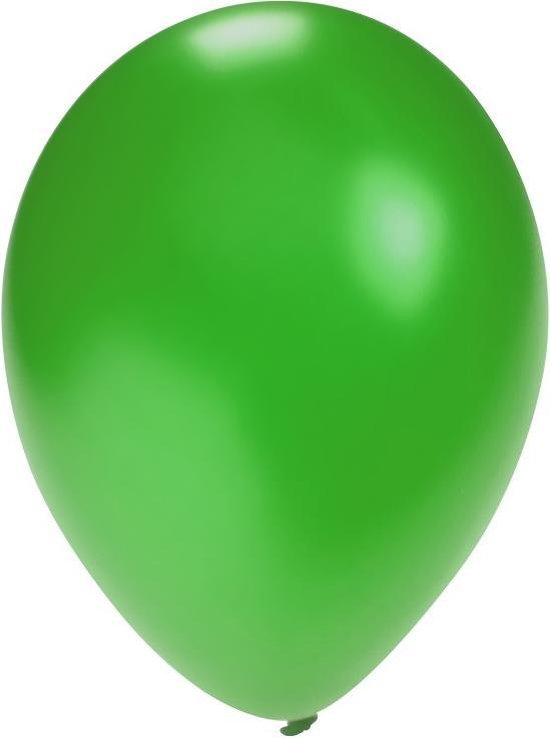 Groene ballonnen 25 stuks   Ballonnen groen voor lucht en helium