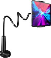 YONO Tablet Houder Flexibel – Smartphone Standaard Universeel - Statief geschikt voor Bureau Tafel en Bed – Zwart