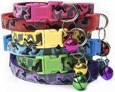 Puppy identificatie riempjes (6 verschillende kleuren) leger patroon - klip sluiting