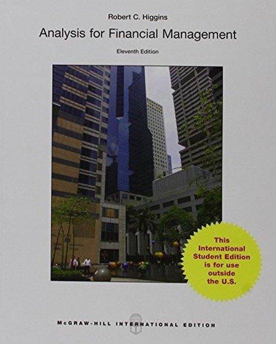 Boek cover Analysis for Financial Management van Robert Higgins