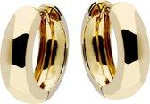 Glow oorringen - geelgoud - 18x6 mm - rond