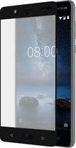 Azuri screenprotector curved tempered glass RINOX ARMOR - Voor Nokia 8 - Zwart