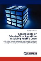 Consequence of Schreier-Sims Algorithm in Solving Rubik's Cube