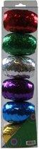 Verpakkingslint - Cadeauverpakkingslint - Hobbylint - Cadeau - Lint - Bol - 10m x 5mm - 6 Stuks