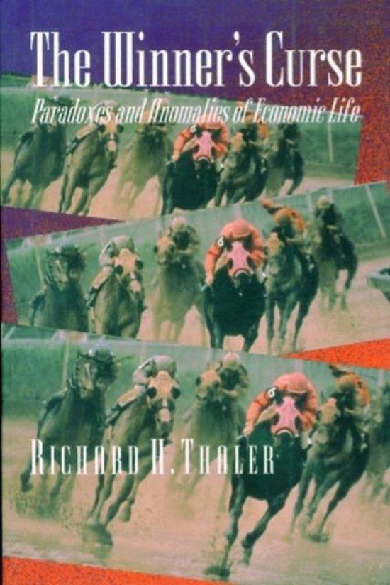 Boek cover The Winners Curse van Richard H. Thaler (Paperback)