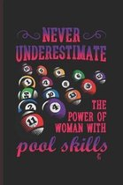Never Under Estimate the Power of Woman with Pool Skill