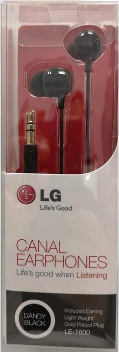 LG - LE-1600 Canal Stereo Head Phones 3.5mm - Zwart