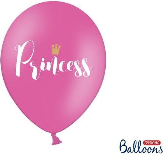"""""""Ballonnen 30cm, Princess, Pastel Hot roze (1 zakje met 6 stuks)"""""""