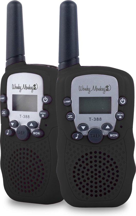 Wonky Monkey - Walkie Talkie - 3 km bereik - 10 oproeptonen - Volume regelaar...