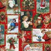 Vintage - Luxe kerstpapier - Inpakpapier - Cadeaupapier - 300 x 70 cm - 5 rollen